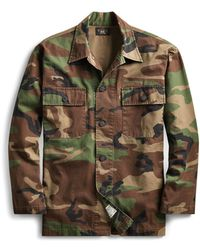 RRL - Camo Cotton Shirt Jacket - Lyst