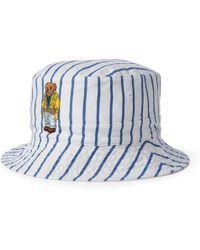 5173095323b Ralph Lauren Reversible Beachside Bucket Hat in White for Men - Lyst