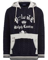 Polo Ralph Lauren - Fleece-panel Hooded Sweater - Lyst