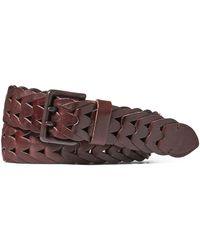 Ralph Lauren | Braided Vachetta Leather Belt | Lyst