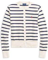 Polo Ralph Lauren - Striped Cardigan Jumper - Lyst