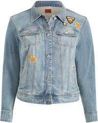 Ralph Lauren - Embroidered Patch Denim Jacket - Lyst