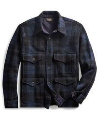 RRL - Plaid Knit Birdseye Jacket - Lyst