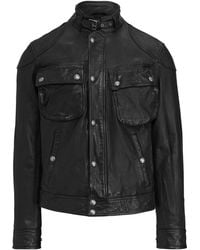8ccd2ef99 Polo Ralph Lauren Maxwell Leather Windbreaker in Black for Men - Lyst