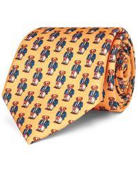 Polo Ralph Lauren - Preppy Bear Silk Narrow Tie - Lyst