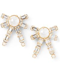 Ralph Lauren - Bow Crystal Earrings - Lyst