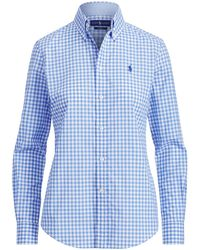 8fb4320ed Polo Ralph Lauren Relaxed Fit Linen Shirt in White - Lyst