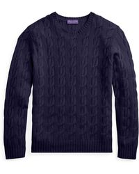 Ralph Lauren Purple Label - Cable-knitted Cashmere Jumper - Lyst