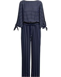 Ralph Lauren | Striped Satin Jumpsuit | Lyst