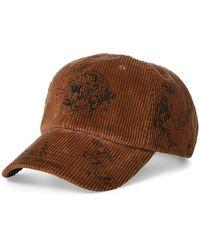 0e82c32d6395a5 Polo Ralph Lauren Corduroy Hat in Blue for Men - Lyst