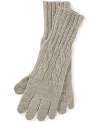 Polo Ralph Lauren - Cable Wool-cashmere Gloves - Lyst