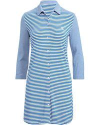 Lyst - Ralph Lauren Floral Sateen Sleep Shirt 506285344