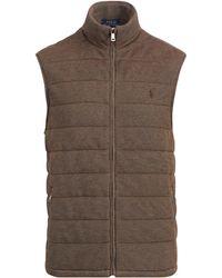 Polo Ralph Lauren - Quilted Cotton-blend Vest - Lyst