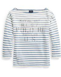 Polo Ralph Lauren - Striped Boatneck T-shirt - Lyst