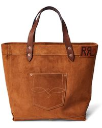 4cd2037542 Lyst - RRL Rockport Leather Duffel in Brown for Men