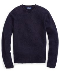 Polo Ralph Lauren - Suede-wool-cashmere Jumper - Lyst
