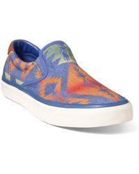 Polo Ralph Lauren - Thompson Print Twill Sneaker - Lyst