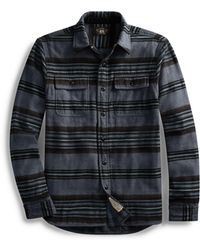 58330b66 RRL Jack Rabbit Pullover Workshirt in Gray for Men - Lyst