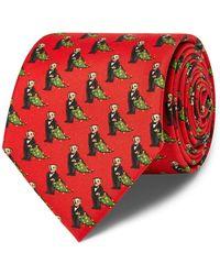Polo Ralph Lauren - Holiday Bear Silk Narrow Tie - Lyst