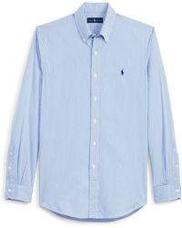 Polo Ralph Lauren - Striped Cotton Poplin Shirt - Lyst