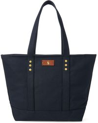 Lyst - Polo Ralph Lauren Pony Canvas Tote in Black c0afcb39644b0