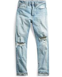 RRL - Stretch Selvedge Straight Jean - Lyst