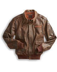RRL - Leather Flight Jacket - Lyst