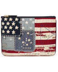 Ralph Lauren - Flag Canvas Zip Pouch - Lyst