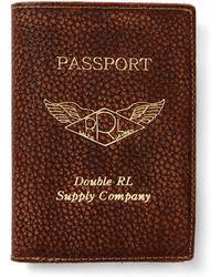 RRL - Pebbled Leather Passport Case - Lyst