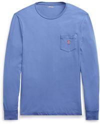 2e640cb9b52d Lyst - Polo Ralph Lauren Men s Custom Slim Fit Long-sleeve Cotton T ...