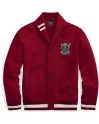 Polo Ralph Lauren - Cotton-blend-fleece Cardigan - Lyst