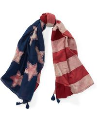 Polo Ralph Lauren - Patchwork Flag Cotton Scarf - Lyst