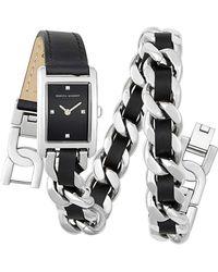 Rebecca Minkoff - Moment Silver Tone Double Wrap Watch, 19x30mm - Lyst