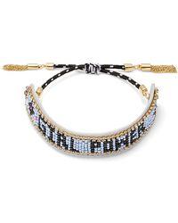 """Rebecca Minkoff - """"girl Power"""" Seed Bead Friendship Bracelet - Lyst"""
