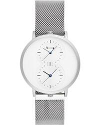 Rebecca Minkoff - Griffith Silver Tone Mesh Bracelet Watch, 43mm - Lyst