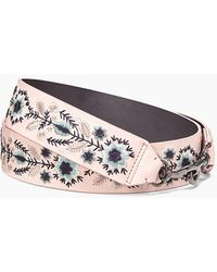 Rebecca Minkoff - Floral Embroidery Guitar Strap - Lyst