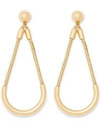 Rebecca Minkoff - Tube And Chain Earring - Lyst