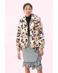 867e7495b512 Rebecca Taylor - Cheetah Faux Fur Coat (cream Combo) Women's Clothing - Lyst