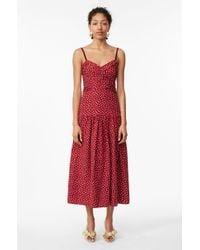 Rebecca Taylor - Sleeveless Silk Heart-print Dress - Lyst