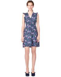Rebecca Taylor | Ruby Floral Hammered Silk Dress | Lyst
