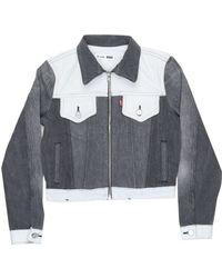 RE/DONE - Black & White Jacket - Lyst