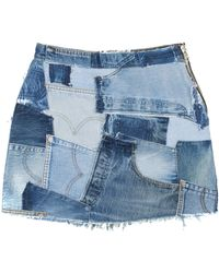 RE/DONE - Patchwork Mini Skirt - Lyst