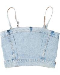 RE/DONE - Reconstructed Corset Top - Lyst