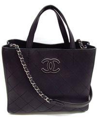 Chanel - Chain Tote Shoulder Bag A68533 Caviar Skin Leather Black - Lyst d8c4038cb5e94