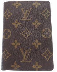 Louis Vuitton - Cardcard Case Brown Monogramcanvas Lv 0061 - Lyst
