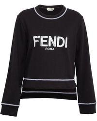 Fendi - Logo Embossed Sweater - Lyst