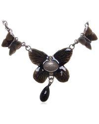 Jean Paul Gaultier | Gaultier Necklace Butterfly Silver Black Silver Used R550 | Lyst