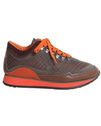 Etro - Leather And Woven Sneakers - Lyst
