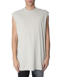 0c5a89af4a7ee Lyst - Rick Owens Ribbed Tank Top in White for Men