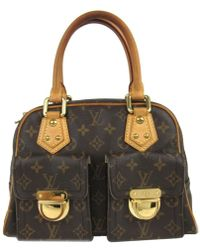 Louis Vuitton | Authentic Manhattan Pm Handbag Bag Monogram Canvas M40026 | Lyst